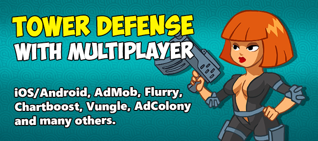 Tower Defense with Multiplayer Android + iOS