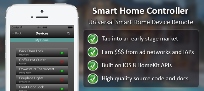 Buy Home Automation IOS App Template Productivity And