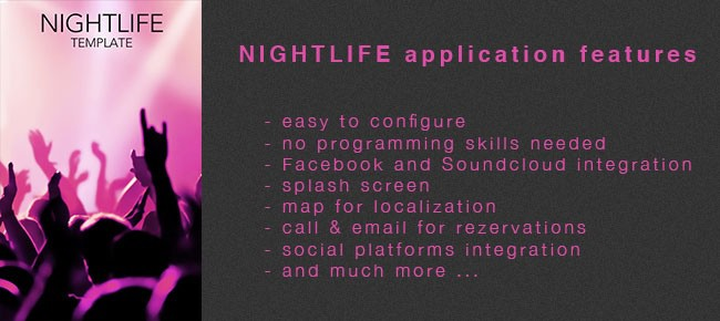 Night Club Application Template