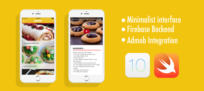 Recipe App - iOS 10 - Swift 3 - Firebase - Admob