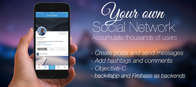 Social Network Template App (iOS + Android)