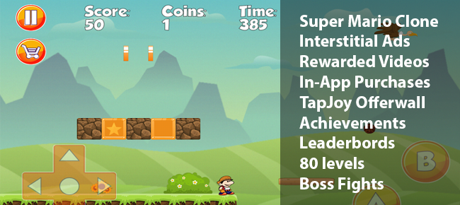 Super Max - Super Mario like Platform Game