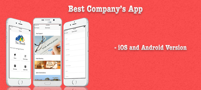 Tourism Company App: iOS & Android