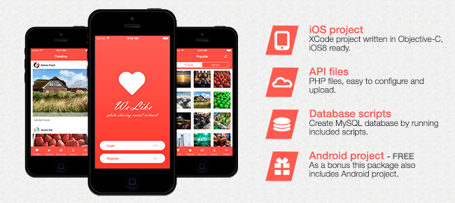 WeLike - photo sharing social network