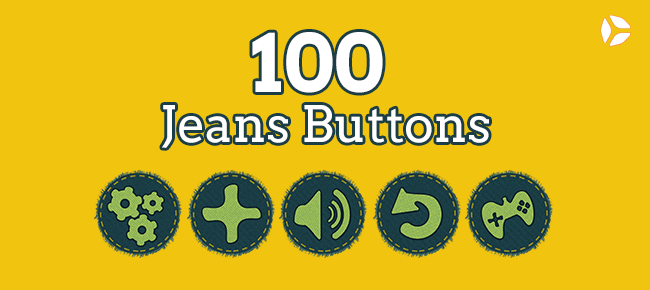 100 Jeans Buttons -