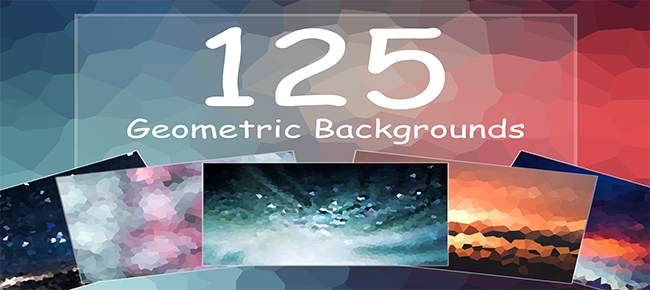 125 Geometric Backgrounds
