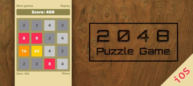 2048 Puzzle Game Source Code iOS