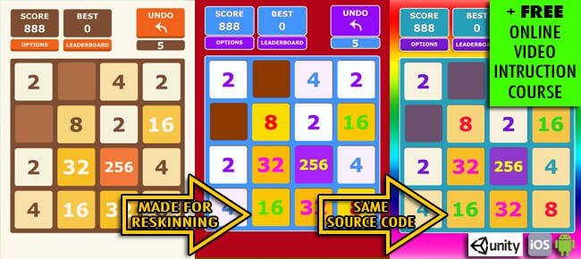 2048 iOS & Android (Unity) + Online Course