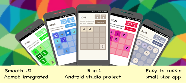 2048 & more 4 games with admob for android