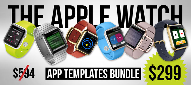 buy 24hrs flash sale 6 apple watch app templates entertainment and