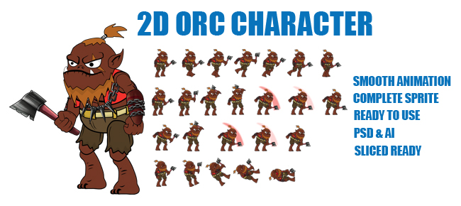 2D ORC CHARACTER