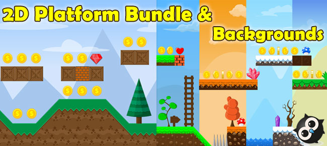 2D Platform Bundle and Background