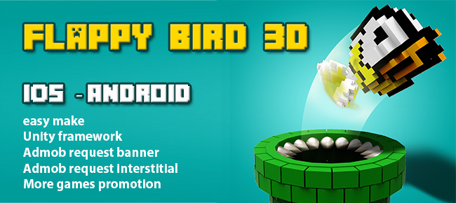 3 view of Flappy Bird 3D
