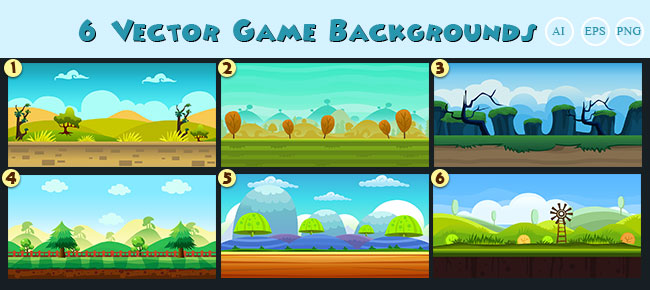 buy 6 vector game backgrounds for ui graphic assets chupamobile com