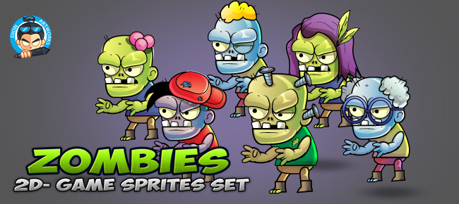 6- Zombies Game Sprites Set