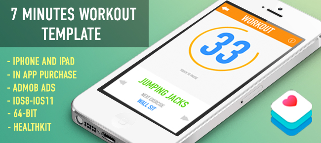 7 Minutes Workout Fitness Template