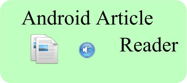Android Article Reader