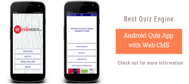 Android Quiz App with Web CMS