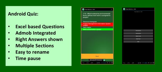 Android Quiz Maker with Admob