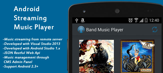 Android Streaming Music Player App