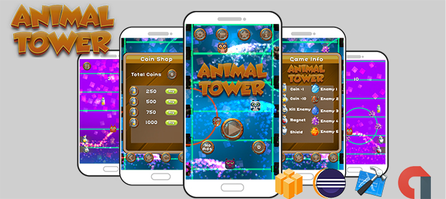 Animal Tower Game Template Android & iOS