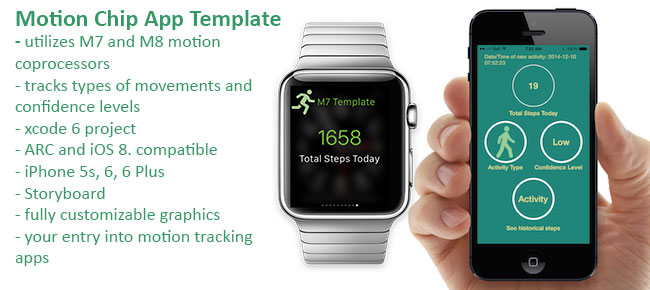 Apple M7 Motion Coprocessor App Template