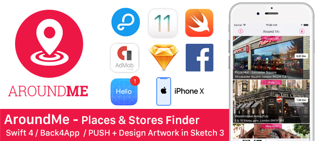 AroundMe - Place & Store Finder + Push