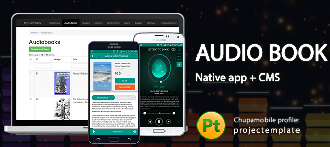 Audio Bookstore Mobile apps source code