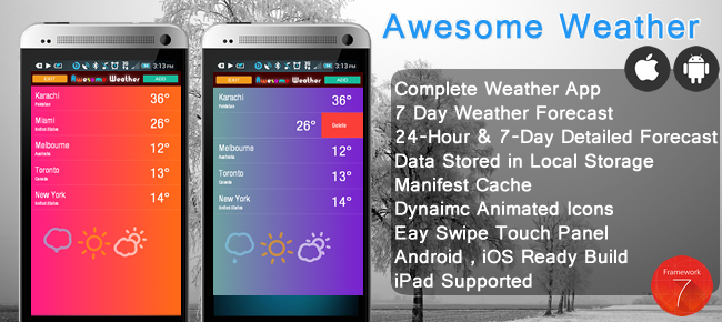Awesome Weather (Android, iOS)