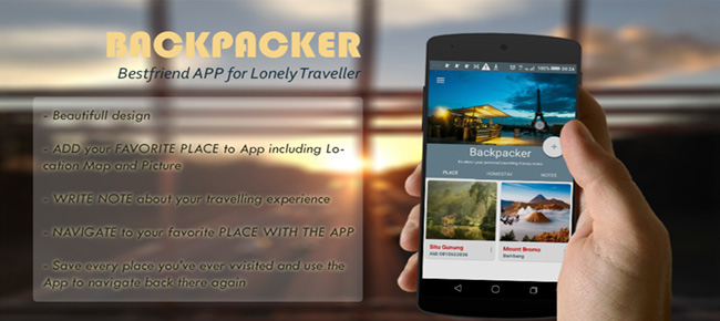 Backpacker : Store & Navigate to your Fav Place