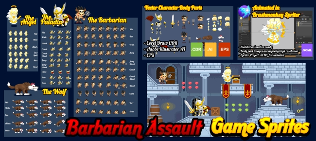 Barbarian Assault - Game Sprites -