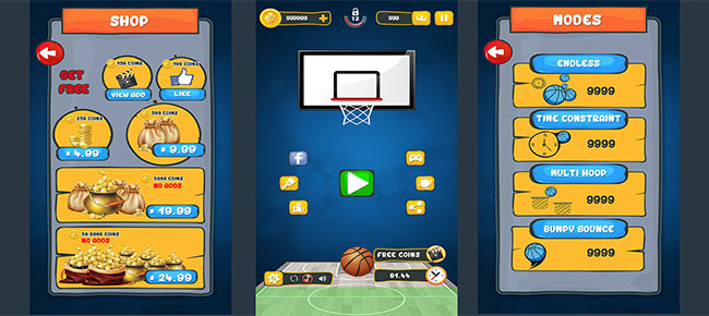 Basket Ball Game Skin (Pack 2)