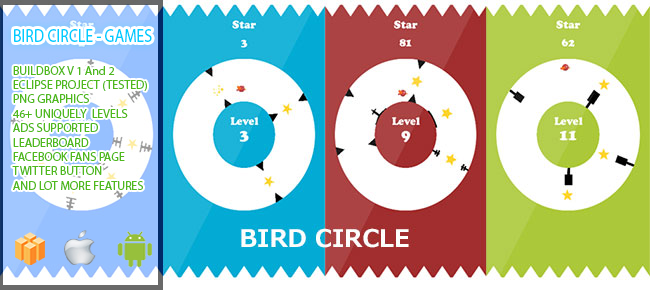 Bird Circle - Game Andro Easy Reskin With Buildbox