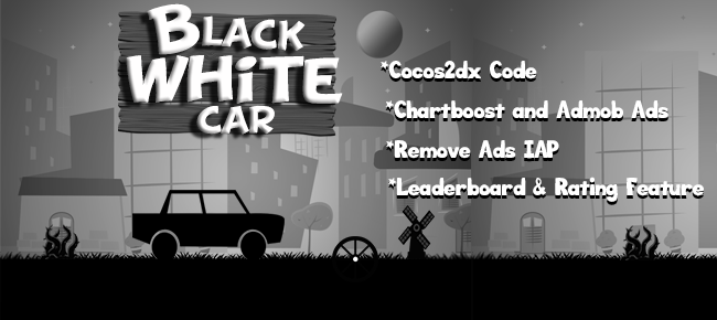 Black White Car Template