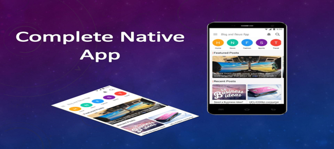 Blog news for android native app for wordpress