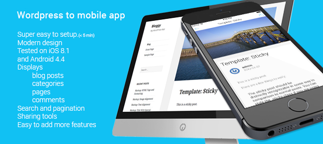 Bloggy - Wordpress to Mobile App