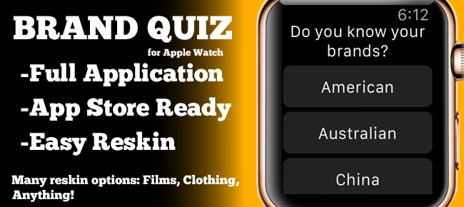 Brand Guessing Game for Apple Watch