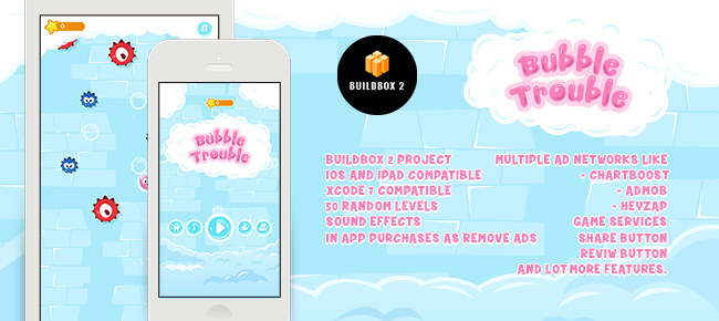 Bubble Trouble iOS – Buildbox Template