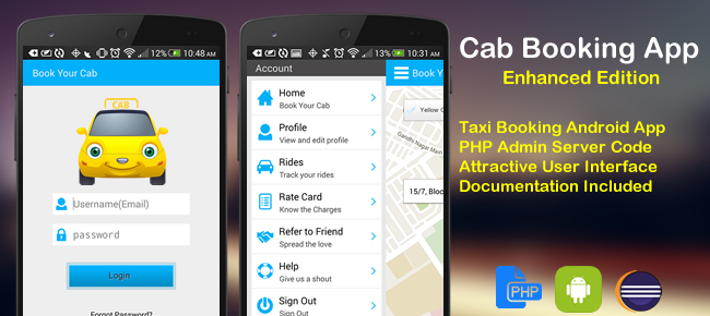 Cab Booking Enhanced Edition Android