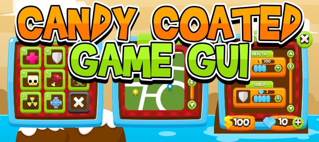Candy Coated Game GUI -