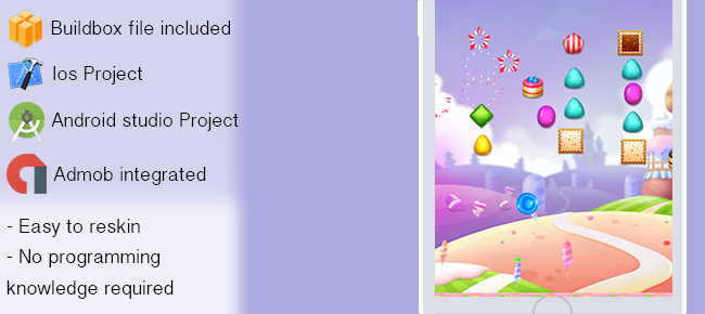 Candy Jump game for iOS and android