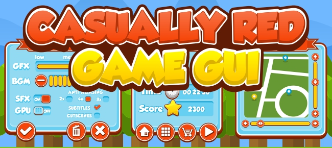 Casually Red Game GUI -