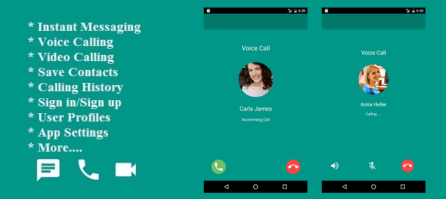 Chat, Voice and Video Calling Android App