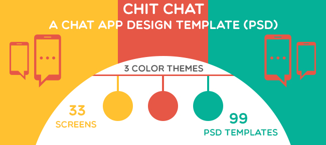 Chit Chat A Mobile Chat App Design Template