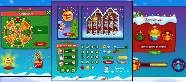 Christmas Game UI Graphic Assets