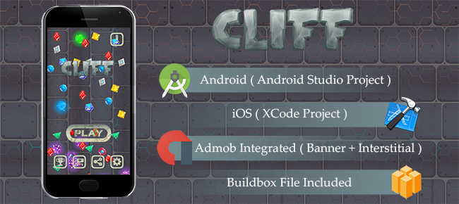 CLIFF Game Template Android & iOS With Admob ( And