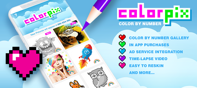 Color By Number Pixel Coloring Book