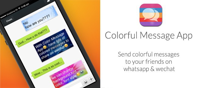 Color Messages Pro For iOS 7 and WeChat