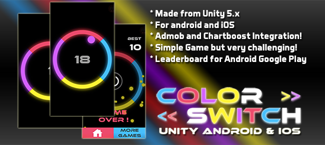 Color Switch Slot Ball - Unity for Android & iOS