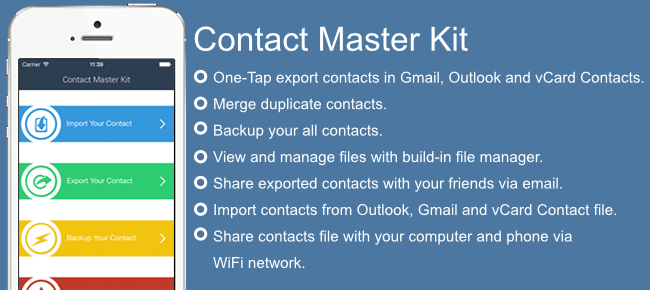 Contacts Master Kit